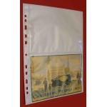 Vitt plastblad 2 fickor på varje sida för brev 20-pack