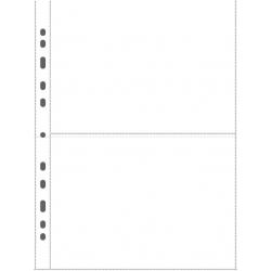 Svart plastblad 2 fickor på varje sida för brev 25-pack
