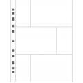 Vitt plastblad 3 fickor på varje sida för vykort och foton 20-pack