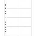 Vitt plastblad 8 fickor på varje sida för häften och telefonkort 20-pack